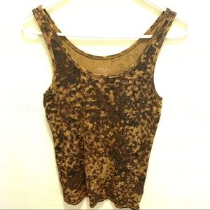 Merona XL Tank Top Woman's Brown Spotted Summer